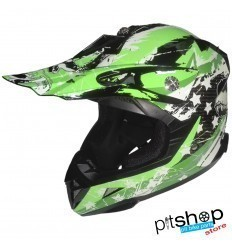 CHILD HELMET XTRM FACTORY GREEN/WHITE
