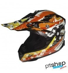CHILD HELMET XTRM FACTORY ORANGE/WHITE