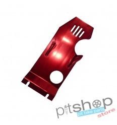 Proteção Carter alumínio vermelho