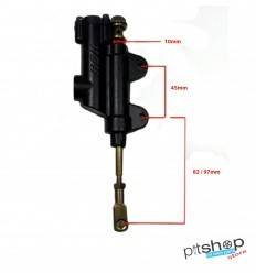 PITBIKE REAR BRAKE PUMP WITH SHORT SHAFT
