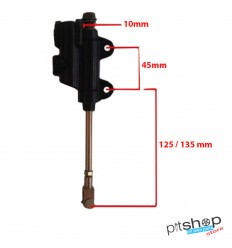 PITBIKE REAR BRAKE PUMP WITH LONG SHAFT