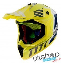 HELMET MT FALCON WARRIOR A3 GLOSS YELLOW