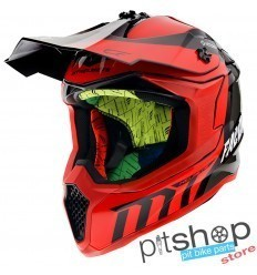 HELMET MT FALCON WARRIOR C5 GLOSS RED