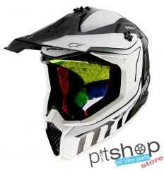 HELMET MT FALCON WARRIOR B0 GLOSS WHITE