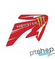 MONSTER CRF70 RED STICKERS