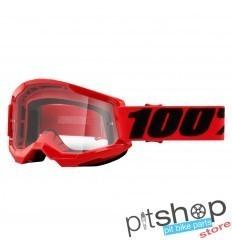 100% STRATA 2 RED GOGGLES