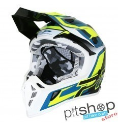 PROGRIP 3180 YELLOW/BLUE HELMET