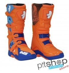 IMS Factory Orange/Blue Motocross Boots