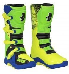 IMS Factory Green/Blue/Fluo Motocross Boots
