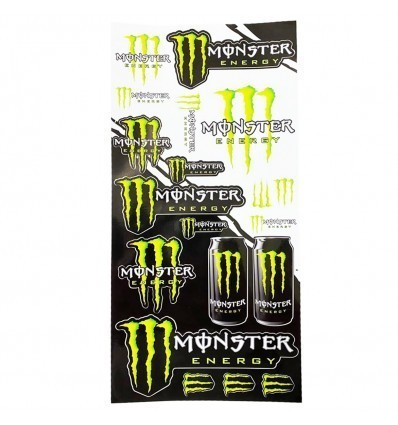 MONSTER ENERGY Self Adhesive Sheet