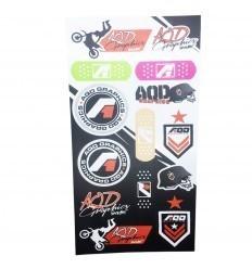 AQD GRAPHICS Stickers Sheet