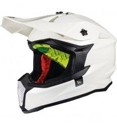 White Helmet MT FALCON SOLID