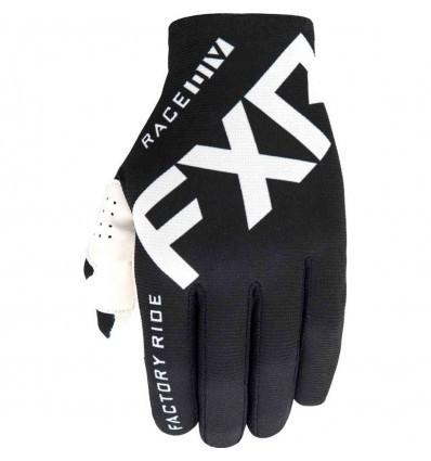 FXR Slip-On Lite Black/White MX Gloves