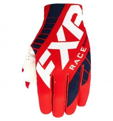 FXR Slip-On Lite Red/White MX Gloves