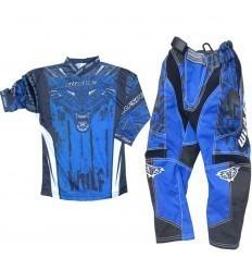 Blue WULFSPORT Aztec Kids Gear Set