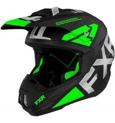 Black/Green TORQUE TEAM FXR Helmet