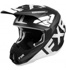 Black/White TORQUE TEAM FXR Helmet