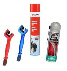 Chain Cleaning and Lubrication Pack and Motorbike Transmission