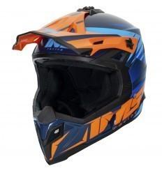 IMS Sprint Blue/Orange Helmet