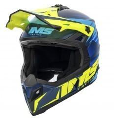 IMS Sprint Blue/Fluor Helmet